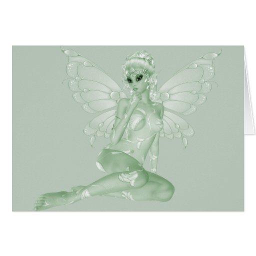Absinthe Art Signature Green Fairy 5B Greeting Card