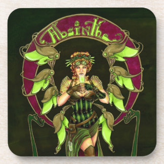 Absinthe- Black Coasters