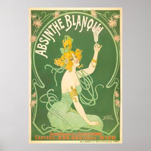 Absinthe Blanoui Vintage Absinthe Poster Art posters