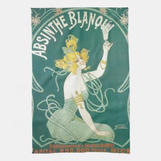 Absinthe Blanqui French victorian Art Nouveau Kitchen Towels