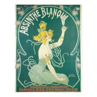 Absinthe Blanqui French victorian Art Nouveau Postcard