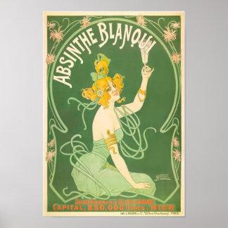 Absinthe Blanqui Vintage Absinthe Art Poster