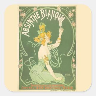 Absinthe Blanqui Vintage Absinthe Fine Art Square Sticker