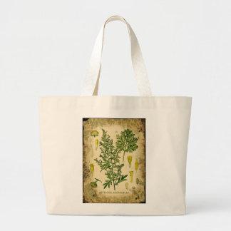 Absinthe Botanical Collage Large Tote Bag