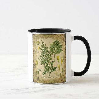 Absinthe Botanical Collage Mug