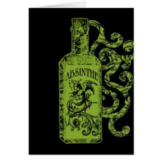 Absinthe Bottle Swirls Greeting Card