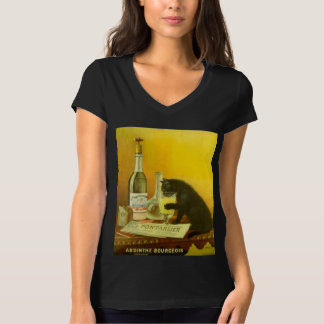 Absinthe Bourgeois and Cat Fine Vintage Poster T-Shirt