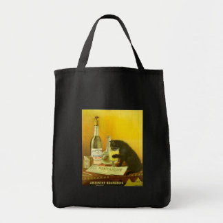 Absinthe Bourgeois and Cat Fine Vintage Poster Tote Bag