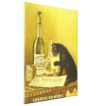Absinthe Bourgeois and Cat Vintage Poster Art Gallery Wrapped Canvas