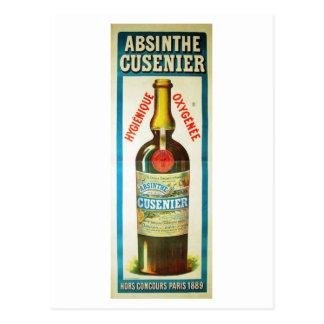 ABSINTHE CUSENIER POSTCARD