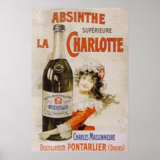 Absinthe drawer Charlotte Poster