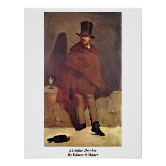Absinthe Drinker By Edouard Manet Poster