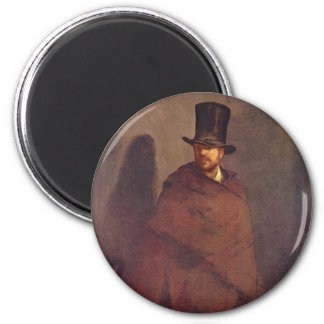 Absinthe Drinker - Edouard Manet 2 Inch Round Magnet