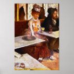 Absinthe Drinkers by Edgar Degas Poster