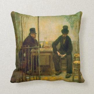 Absinthe Drinkers by Raffaellino da Reggio Throw Pillow