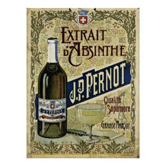 Absinthe Extrait J.P.Pernot Poster