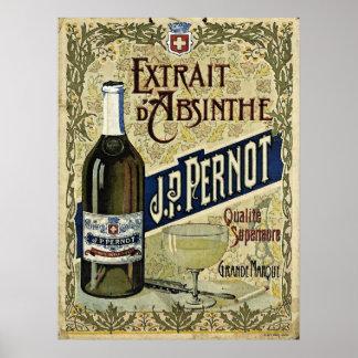 Absinthe Extrait J.P.Pernot Poster