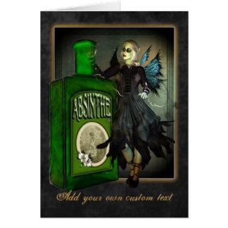 Absinthe Faerie Greetings Card