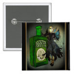 Absinthe Faerie Square Buttons