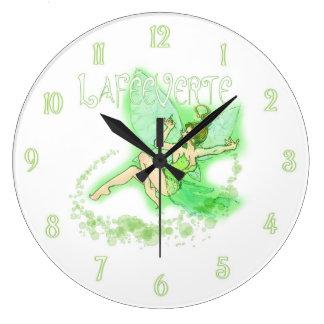 Absinthe Fairy 2 Large Clock