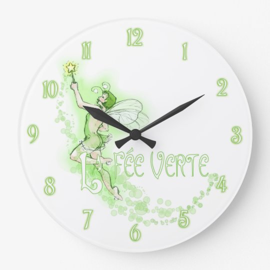 Absinthe Fairy Large Clock