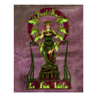 Absinthe Fairy Poster
