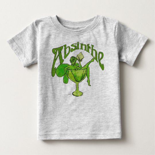 Absinthe Girl In Glass Baby T-Shirt