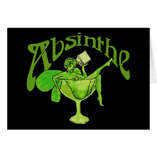 Absinthe Girl In Glass Greeting Card