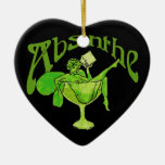 Absinthe Girl in Glass Christmas Ornaments