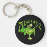 Absinthe Girl In Glass Key Chains
