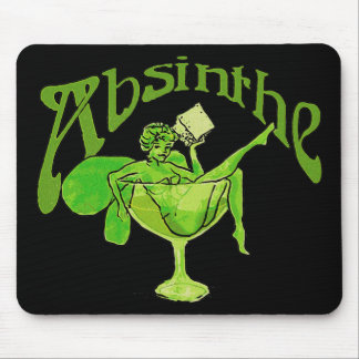 Absinthe Girl In Glass Mouse Pad