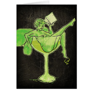 Absinthe Girl In Glass (no text) Greeting Card