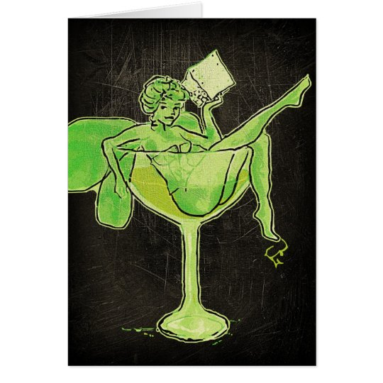Absinthe Girl In Glass (no text) Card