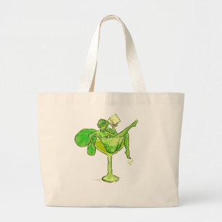 Absinthe Girl In Glass (no text) Large Tote Bag