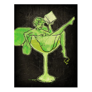 Absinthe Girl In Glass (no text) Postcard