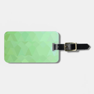 Absinthe Green Abstract Low Polygon Background Luggage Tag