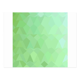 Absinthe Green Abstract Low Polygon Background Postcard