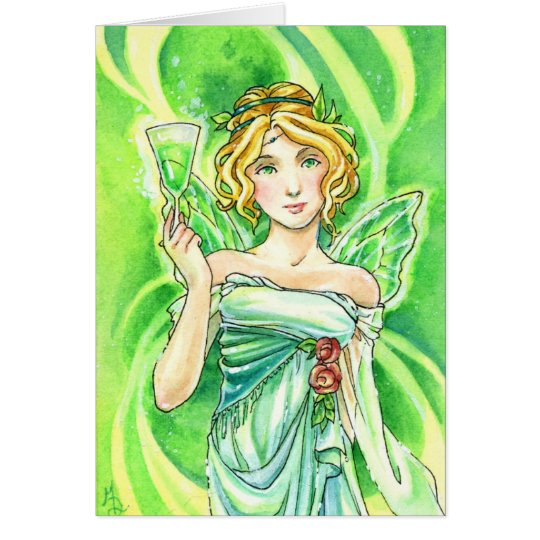 Absinthe Green Fairy card by Meredith Dillman