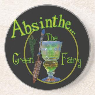 Absinthe Green Fairy Drink Coaster