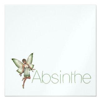 Absinthe Green Fairy In 3D Card