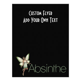 Absinthe Green Fairy In 3D Flyer