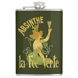 Absinthe Green Fairy La Fee Verte,Poster Steampunk Hip Flask