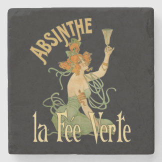 Absinthe Green Fairy La Fee Verte,Poster Steampunk Stone Coaster