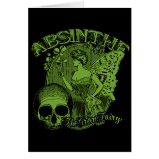 Absinthe Green Fairy Lady Greeting Card