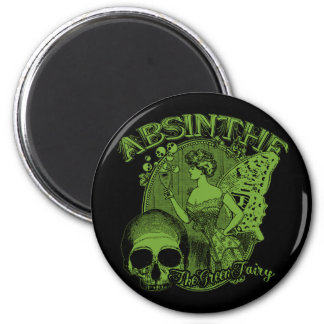 Absinthe Green Fairy Lady Magnet