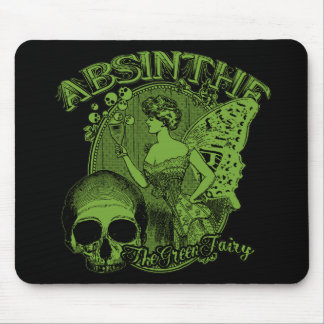Absinthe Green Fairy Lady Mouse Pad