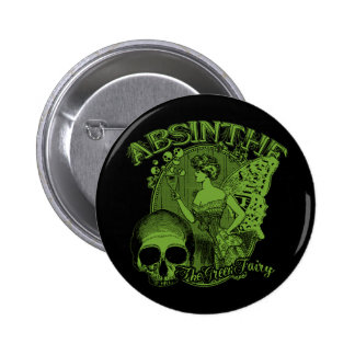 Absinthe Green Fairy Lady Pinback Button