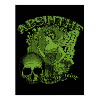 Absinthe Green Fairy Lady Post Cards