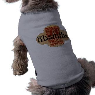 Absinthe Imaginary Bottle Lable Doggie Tee Shirt