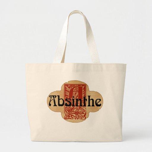 Absinthe Imaginary Bottle Lable Jumbo Tote Bag